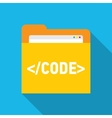 Code Editor Web folder inside vector image