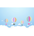 colorful hot air balloons flying the sky vector image vector image