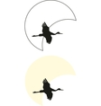crane silhouettes vector image vector image