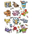 cute animals for your design vector image vector image