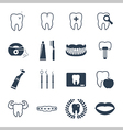 Dental and teeth health icon set vector image