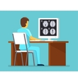 Doctor researches results of MRI scan Health and vector image