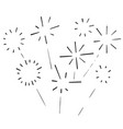 doodle fireworks burst icon hand drawing vector image vector image