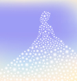 dreamy princess sparkling silhouette vector image vector image