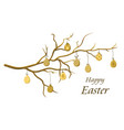 easter eggs on a branch vector image