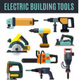 electric building tool vector image vector image
