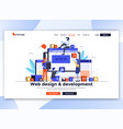 flat modern design website template - web vector image vector image