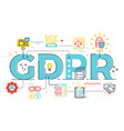 gdpr general data protection regulation vector image vector image