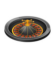 grey roulette casino mockup realistic style vector image