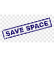 grunge save space rectangle stamp vector image vector image
