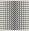 halftone circles pattern seamless geometric vector image vector image