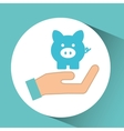 hand concept save money piggy vector image