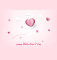 happy valentines day decoration cute design with vector image vector image