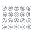 human resources personnel management line icons vector image vector image