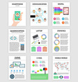 Infographics set in flat style about smartphone vector image