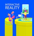 interactive reality games vector image vector image