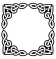 irish celtic square greeteing card design vector image vector image
