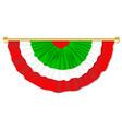 italian flag bunting vector image