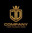 jd logo vector image vector image