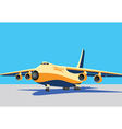 large cargo plane vector image vector image
