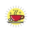 Linear Icon Cup Of Coffee vector image vector image
