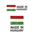 made in hungary label tag template vector image vector image