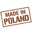 made in poland stamp vector image vector image