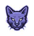 mascot stylized cat head vector image