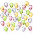 mirror balloons background vector image