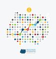 Modern Design business piggy bank dot style vector image