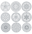 Occult mystic spiritual esoteric symbols vector image vector image
