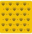 Orange background bee vector image vector image