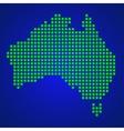 Pixel map of Australia vector image