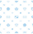 post icons pattern seamless white background vector image vector image