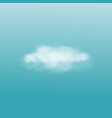 realistic effect smoke or cloud steam or fog vector image