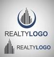 realty logo 2 2 vector image vector image