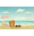 Retro summer vacation background vector image vector image