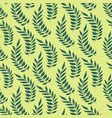 seamless pattern with hand drawn green leaves vector image vector image