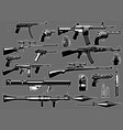 set bundle military guns and rifles vector image vector image