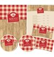 set of design elements for a cafe or restaurant vector image vector image
