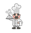 simple cartoon male cook vector image