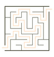 simple maze vector image vector image