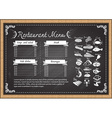 steak on chalkboard vector image vector image
