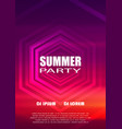 summer night party club flyer design vector image