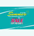 summer sale design template banner for promotion vector image vector image