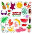 summer stickers set vector image