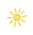 sun spiral icon hand drawn vector image