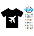 T-Shirt Icon with 2017 Year Bonus Symbols vector image