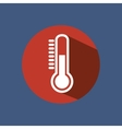 thermometer sign isolated icon vector image vector image