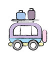 van transportation with bags to travel vector image vector image